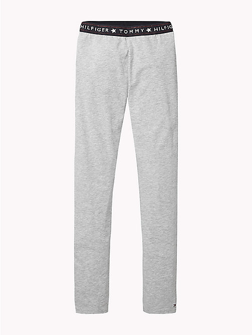 TOMMY HILFIGER Tommy Hilfiger Logo Waistband Leggings - GREY HEATHER - TOMMY HILFIGER Girls - main image