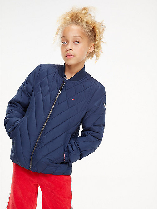 TOMMY HILFIGER Quilted Bomber Jacket - BLACK IRIS - TOMMY HILFIGER Trousers, Shorts & Skirts - main image