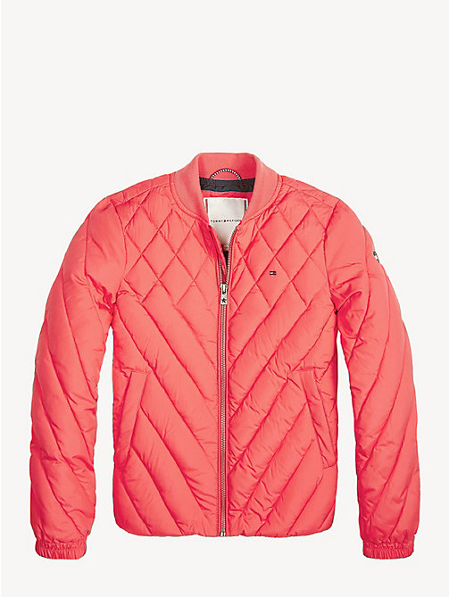 TOMMY HILFIGER Quilted Bomber Jacket - TEABERRY - TOMMY HILFIGER Trousers, Shorts & Skirts - detail image 1