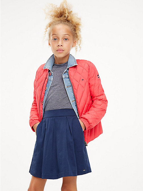 TOMMY HILFIGER Quilted Bomber Jacket - TEABERRY - TOMMY HILFIGER Trousers, Shorts & Skirts - main image