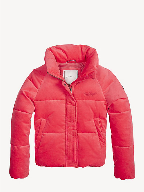 TOMMY HILFIGER Doudoune effet velours - TEABERRY - TOMMY HILFIGER Filles - image principale