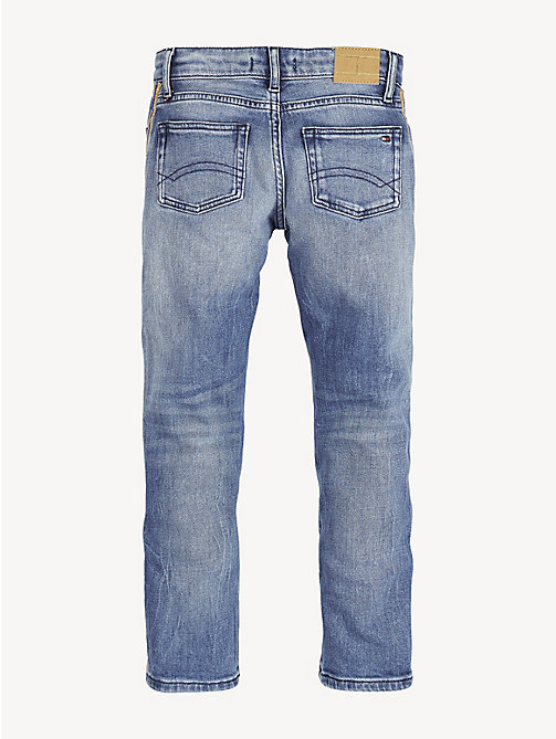 TOMMY HILFIGER Cropped Straight Leg Jeans - ATLANTIC BLUE STRETCH - TOMMY HILFIGER Jeans - detail image 1