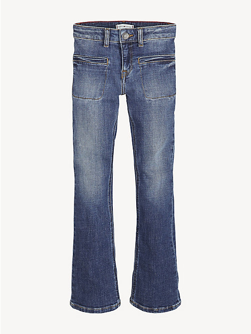 TOMMY HILFIGER Skinny Flare Leg Jeans - CRESTON BLUE STRETCH - TOMMY HILFIGER Trousers, Shorts & Skirts - main image