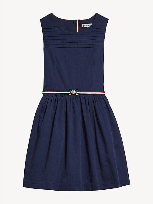 TOMMY HILFIGER Pleated Detail Sleeveless Dress - BLACK IRIS - TOMMY HILFIGER Dresses - detail image 1