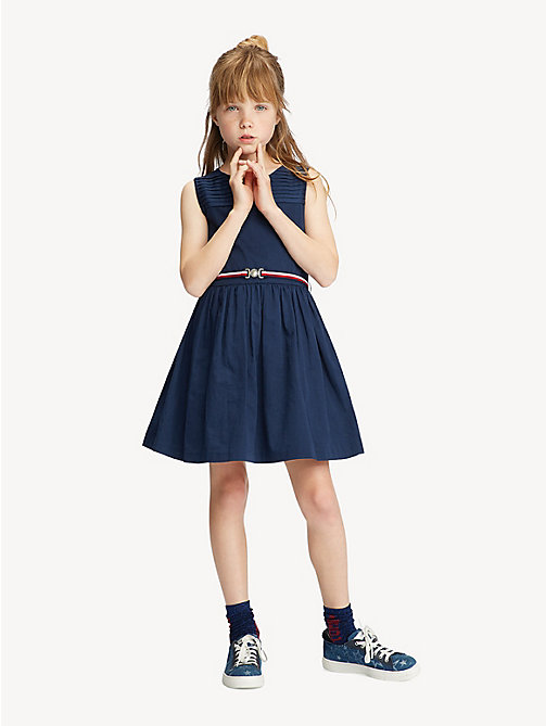 TOMMY HILFIGER Pleated Detail Sleeveless Dress - BLACK IRIS - TOMMY HILFIGER Dresses - main image