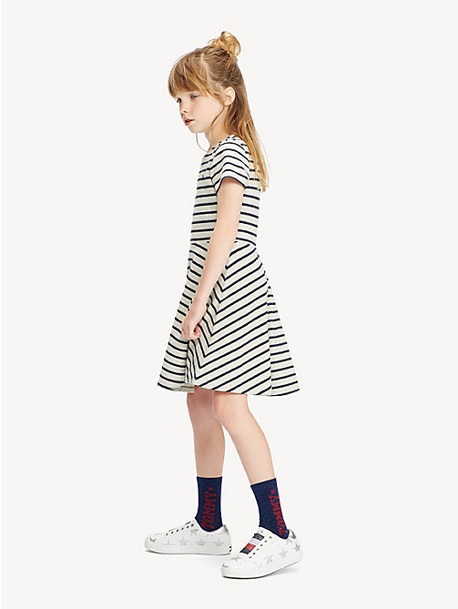 TOMMY HILFIGER Sparke Stripe Knit Dress - LIGHT GREY HTR - TOMMY HILFIGER Trousers, Shorts & Skirts - main image