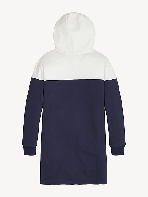 TOMMY HILFIGER Colour-Blocked Hoody Dress - BLACK IRIS / BRIGHT WHITE - TOMMY HILFIGER Trousers, Shorts & Skirts - detail image 1