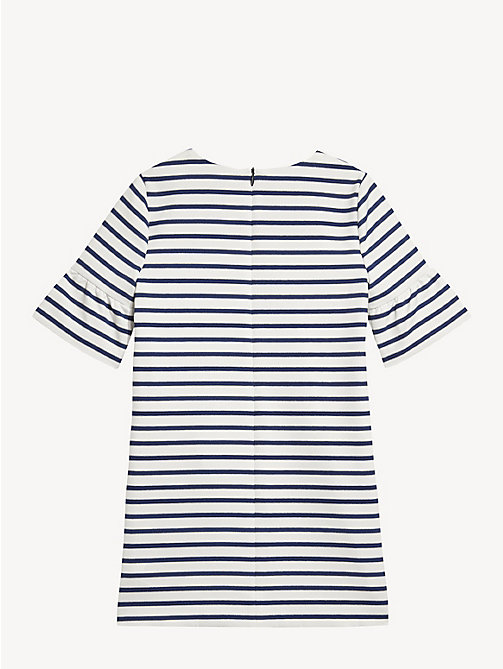 TOMMY HILFIGER Stripe Print Shift Dress - BLACK IRIS / BRIGHT WHITE - TOMMY HILFIGER Dresses - detail image 1