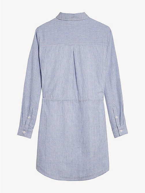 TOMMY HILFIGER Sparkle Stripe Shirt Dress - SODALITE BLUE - TOMMY HILFIGER Dresses - detail image 1