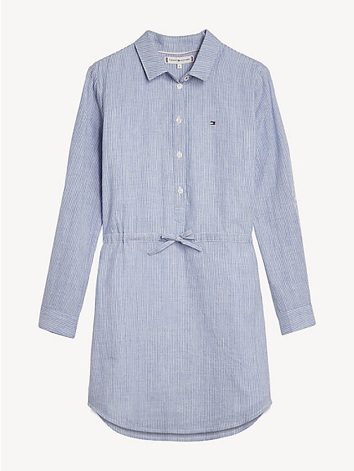 TOMMY HILFIGER Sparkle Stripe Shirt Dress - SODALITE BLUE - TOMMY HILFIGER Dresses - main image