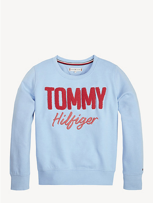 TOMMY HILFIGER Crew Neck Logo Sweatshirt - BLUE BELL - TOMMY HILFIGER Trousers, Shorts & Skirts - main image
