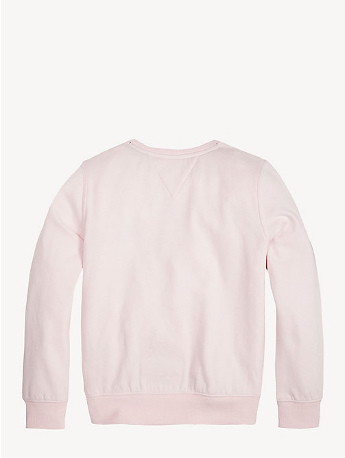 TOMMY HILFIGER Crew Neck Logo Sweatshirt - BARELY PINK - TOMMY HILFIGER Trousers, Shorts & Skirts - detail image 1