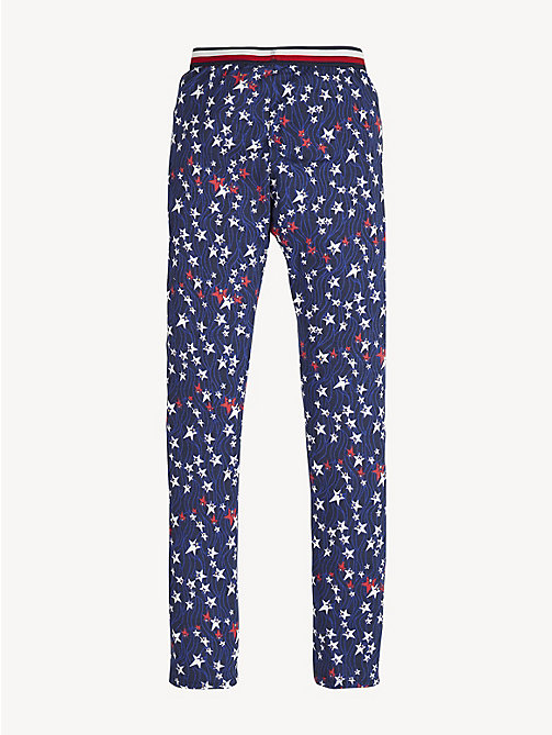 TOMMY HILFIGER Glitter Star Print Leggings - BLACK IRIS/MULTI - TOMMY HILFIGER Trousers, Shorts & Skirts - detail image 1