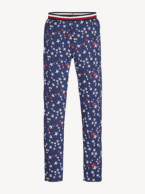 TOMMY HILFIGER Glitter Star Print Leggings - BLACK IRIS/MULTI - TOMMY HILFIGER Trousers, Shorts & Skirts - main image