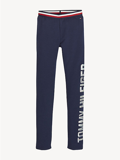 TOMMY HILFIGER Essential Stretch Logo Leggings - BLACK IRIS - TOMMY HILFIGER Trousers, Shorts & Skirts - main image