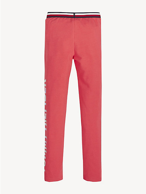 TOMMY HILFIGER Essential Stretch-Leggings mit Logo - TEABERRY - TOMMY HILFIGER Hosen, Shorts & Röcke - main image 1