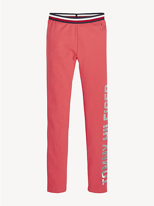 TOMMY HILFIGER Essential Stretch Logo Leggings - TEABERRY - TOMMY HILFIGER Trousers, Shorts & Skirts - main image