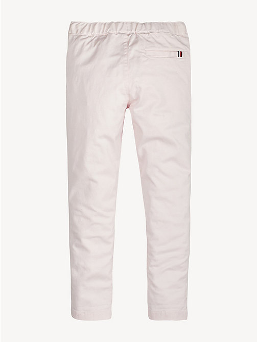 TOMMY HILFIGER Stretch Drawstring Trousers - BARELY PINK - TOMMY HILFIGER Trousers, Shorts & Skirts - detail image 1