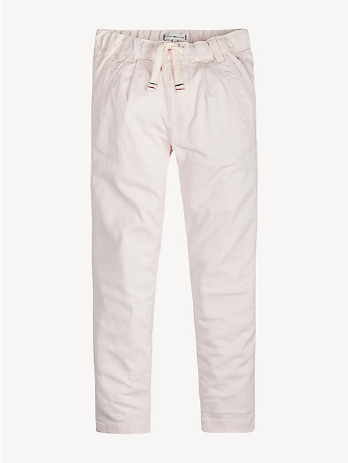 TOMMY HILFIGER Stretch Drawstring Trousers - BARELY PINK - TOMMY HILFIGER Trousers, Shorts & Skirts - main image