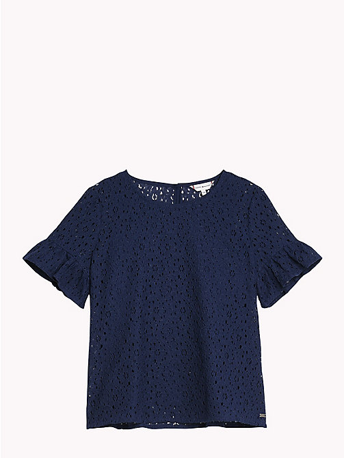 TOMMY HILFIGER Floral Lace Top - BLACK IRIS - TOMMY HILFIGER Tops & T-shirts - detail image 1