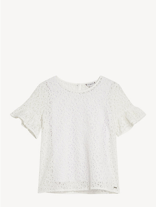 TOMMY HILFIGER Floral Lace Top - BRIGHT WHITE - TOMMY HILFIGER Tops & T-shirts - main image