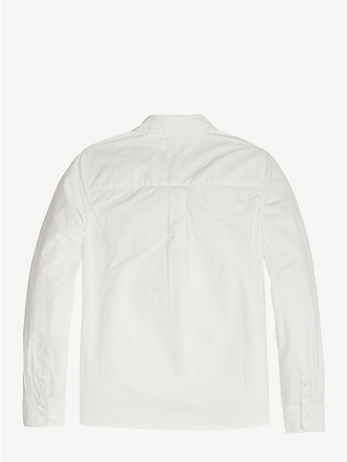 TOMMY HILFIGER Ruffle Placket Cotton Shirt - BRIGHT WHITE - TOMMY HILFIGER Tops & T-shirts - detail image 1