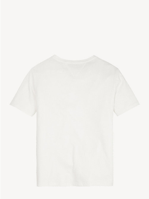 TOMMY HILFIGER Organic Cotton Logo T-Shirt - BRIGHT WHITE - TOMMY HILFIGER Tops & T-shirts - detail image 1
