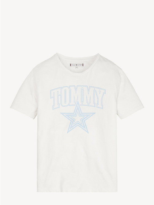 TOMMY HILFIGER Organic Cotton Logo T-Shirt - BRIGHT WHITE - TOMMY HILFIGER Tops & T-shirts - main image
