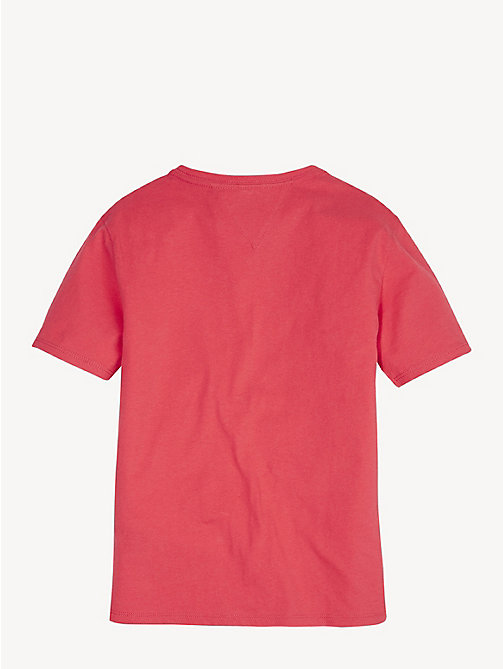TOMMY HILFIGER Organic Cotton Logo T-Shirt - TEABERRY - TOMMY HILFIGER Tops & T-shirts - detail image 1
