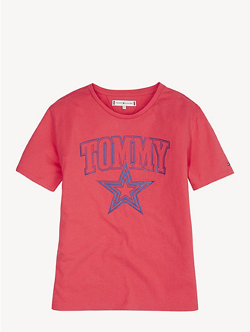 TOMMY HILFIGER Organic Cotton Logo T-Shirt - TEABERRY - TOMMY HILFIGER Tops & T-shirts - main image