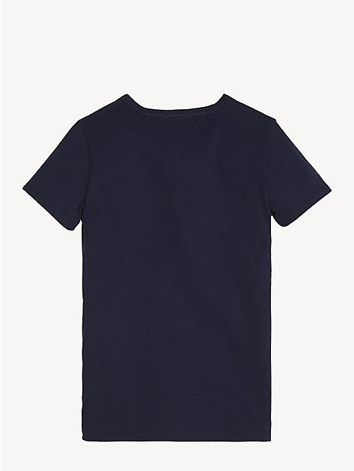 TOMMY HILFIGER Organic Cotton Logo T-Shirt - BLACK IRIS - TOMMY HILFIGER Trousers, Shorts & Skirts - detail image 1