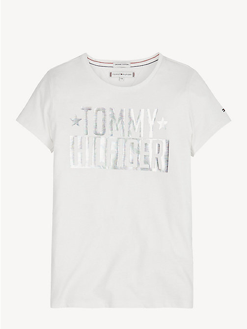 TOMMY HILFIGER T-shirt in cotone biologico con logo - BRIGHT WHITE - TOMMY HILFIGER Top & T-shirt - immagine principale