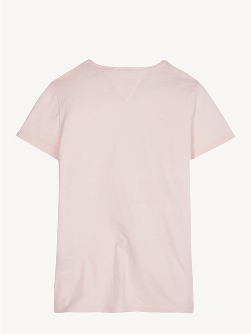 TOMMY HILFIGER Organic Cotton Logo T-Shirt - BARELY PINK - TOMMY HILFIGER Trousers, Shorts & Skirts - detail image 1
