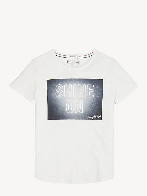 TOMMY HILFIGER T-shirt in cotone biologico Shine On - BRIGHT WHITE - TOMMY HILFIGER Top & T-shirt - immagine principale