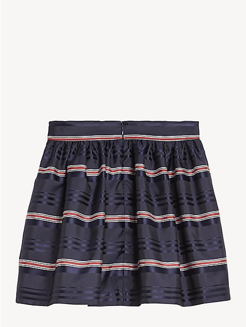 TOMMY HILFIGER All-Over Stripe Skirt - BLACK IRIS / MULTI - TOMMY HILFIGER Trousers, Shorts & Skirts - detail image 1