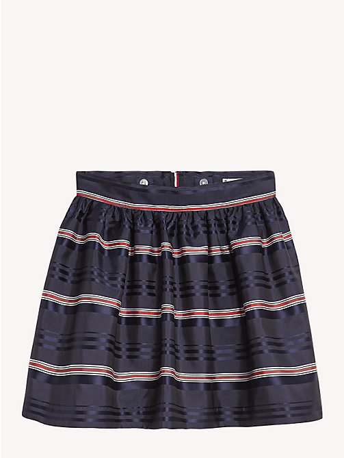 TOMMY HILFIGER All-Over Stripe Skirt - BLACK IRIS / MULTI - TOMMY HILFIGER Trousers, Shorts & Skirts - main image
