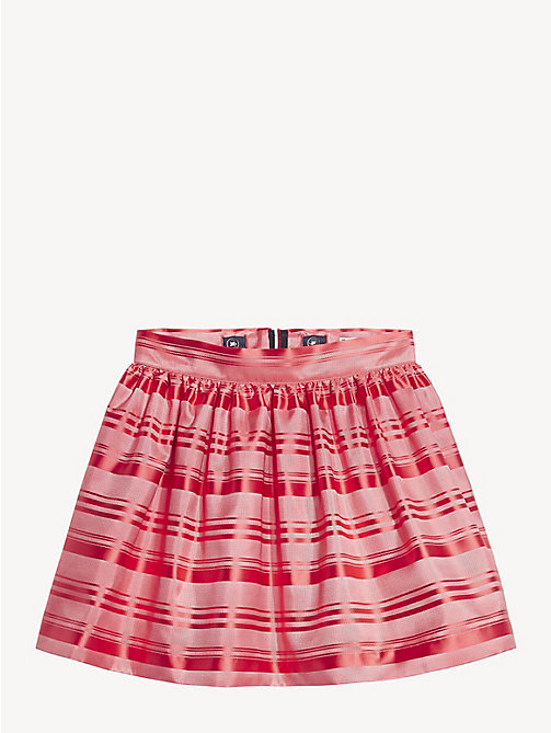 TOMMY HILFIGER All-Over Stripe Skirt - TEABERRY - TOMMY HILFIGER Trousers, Shorts & Skirts - detail image 1