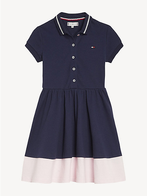 TOMMY HILFIGER Polo Flare Dress - BLACK IRIS - TOMMY HILFIGER Trousers, Shorts & Skirts - detail image 1