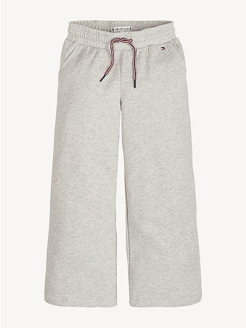 TOMMY HILFIGER Wide Leg Joggers - LIGHT GREY HTR - TOMMY HILFIGER Trousers, Shorts & Skirts - main image