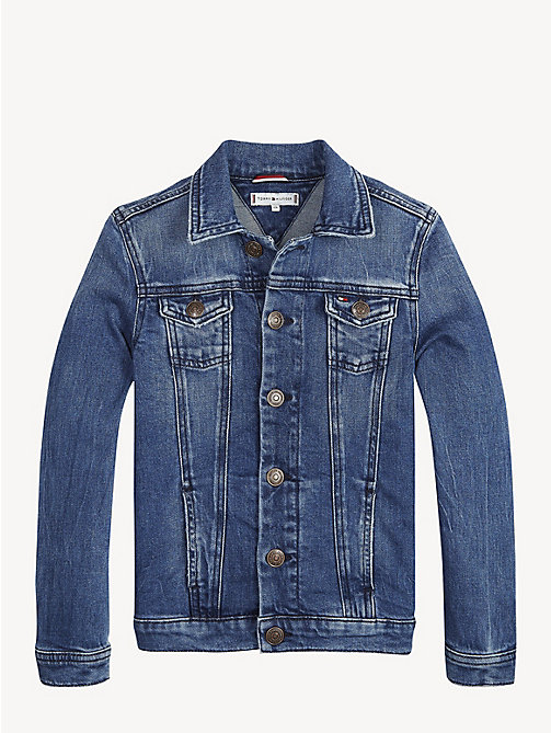 TOMMY HILFIGER Oversized Sequin Appliqué Denim Jacket - ATLANTIC BLUE STRETCH - TOMMY HILFIGER Coats & Jackets - detail image 1