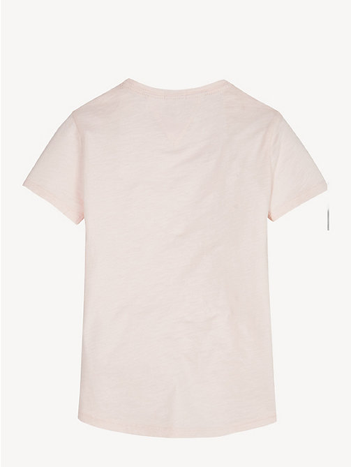 TOMMY HILFIGER Organic Cotton Crew Neck T-Shirt - BARELY PINK - TOMMY HILFIGER Sustainable Evolution - detail image 1