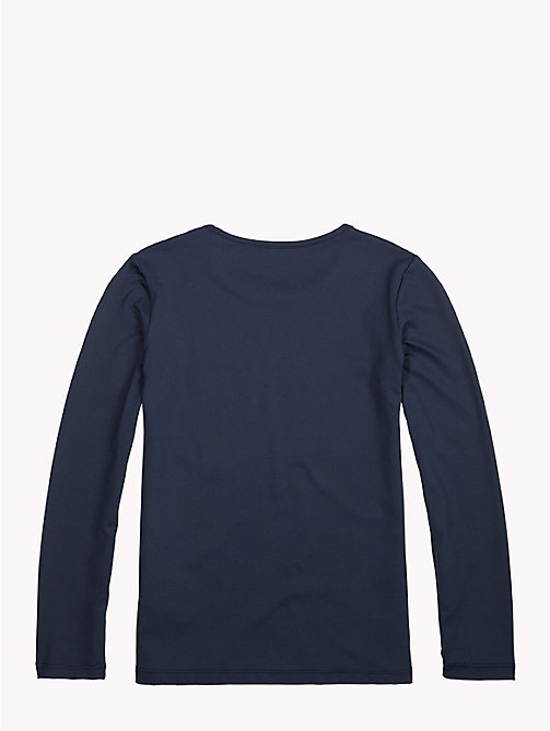 TOMMY HILFIGER Sports Long-Sleeve Logo T-Shirt - BLACK IRIS - TOMMY HILFIGER Sports Capsule - detail image 1