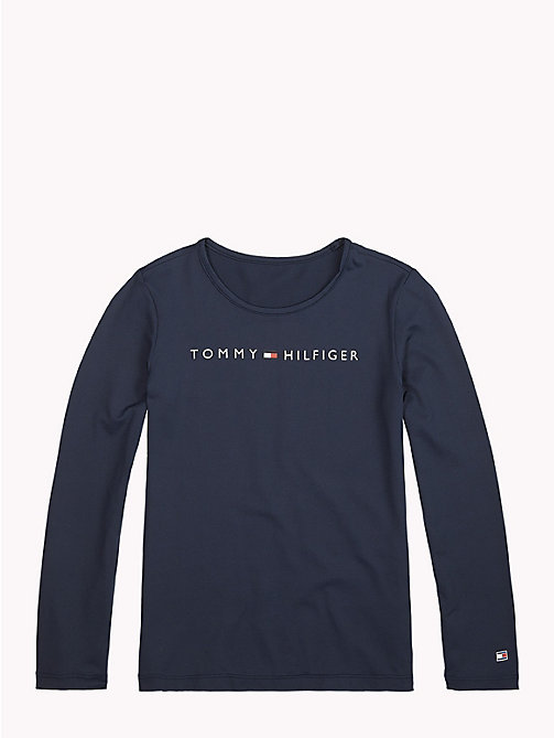 TOMMY HILFIGER Sports Long-Sleeve Logo T-Shirt - BLACK IRIS - TOMMY HILFIGER Sports Capsule - main image