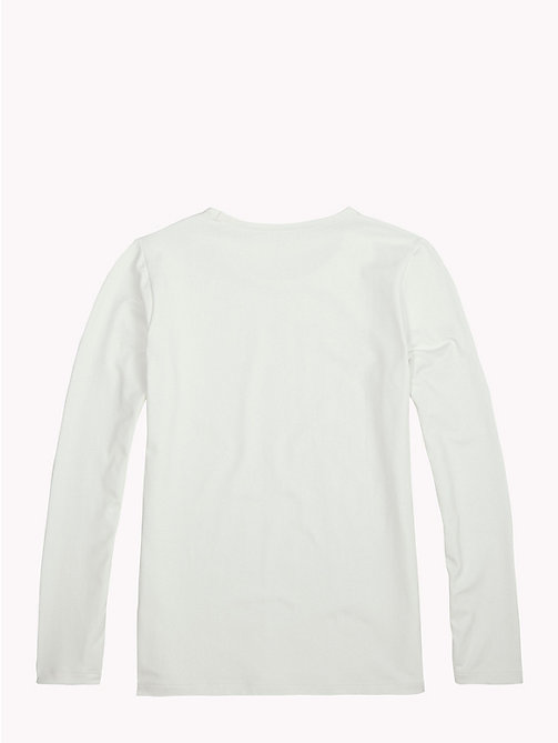 TOMMY HILFIGER Sports Long-Sleeve Logo T-Shirt - BRIGHT WHITE - TOMMY HILFIGER Sports Capsule - detail image 1