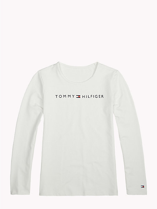 TOMMY HILFIGER Sports Long-Sleeve Logo T-Shirt - BRIGHT WHITE - TOMMY HILFIGER Sports Capsule - main image