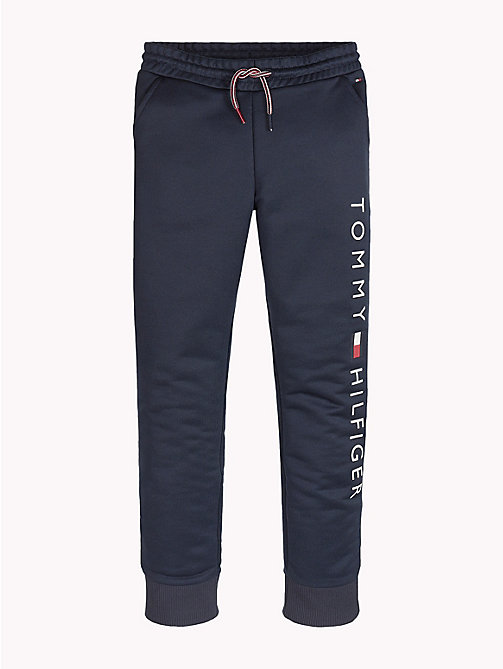 TOMMY HILFIGER Sports Logo Drawstring Joggers - BLACK IRIS - TOMMY HILFIGER Trousers, Shorts & Skirts - main image