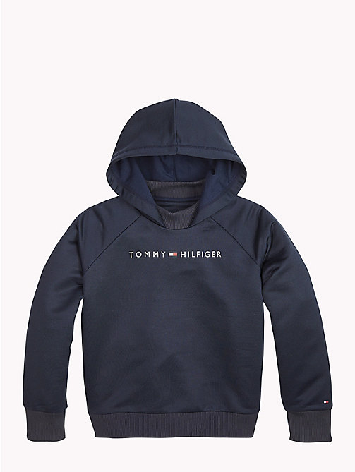 TOMMY HILFIGER Sports Logo-Hoodie mit Mock Neck - BLACK IRIS - TOMMY HILFIGER Sports Capsule - main image 1