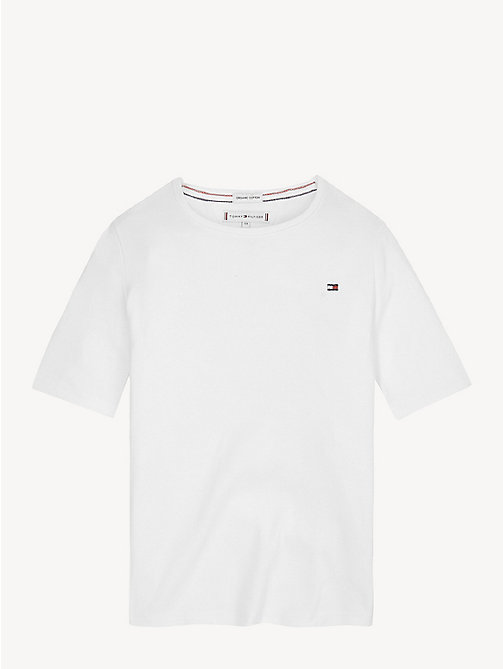TOMMY HILFIGER Organic Cotton T-Shirt - BRIGHT WHITE - TOMMY HILFIGER Trousers, Shorts & Skirts - main image
