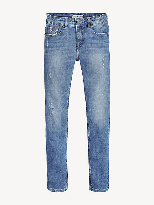 TOMMY HILFIGER Nora Distressed Skinny Fit Jeans - ICE BLUE DESTRUCTED STRETCH - TOMMY HILFIGER Jeans - main image