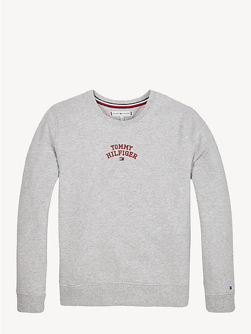 TOMMY HILFIGER Essential Logo Sweatshirt - LIGHT GREY HTR - TOMMY HILFIGER Sweatshirts & Hoodies - main image